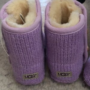 UGG Purl toddler booties - purple, 2 pairs